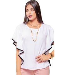 blusa adulto para mujer mp -blanco