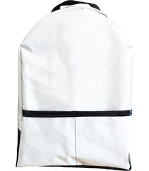 ecomochila blanca leaf social silobag pocket white