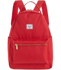 herschel supply co. nova mid volume backpack - red