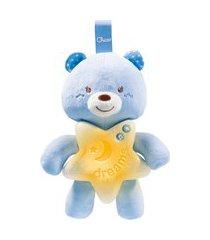 luminária e móbile musical chicco ursinho bons sonhos - azul
