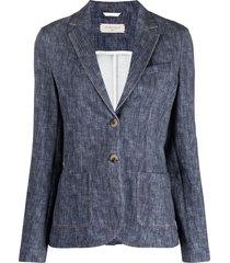 circolo 1901 chambray blazer - blue