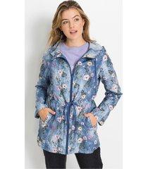 lichte jas zonder voering met gerecycled polyester