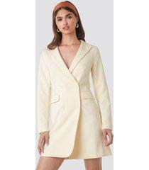 na-kd party collared blazer dress - white