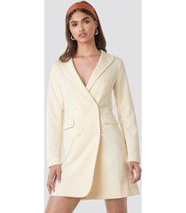 na-kd party collared blazer dress - offwhite
