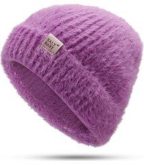 cappellino antivento per donna casual invernale con cappello tinta unita in cashmere
