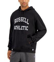 russell athletic men's archer logo-print fleece hoodie