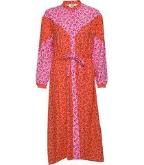 flower jam dripla jurk knielengte roze mads nørgaard
