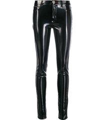 philipp plein patent skinny trousers - black