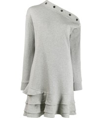 derek lam 10 crosby cressida sweatshirt dress - grey