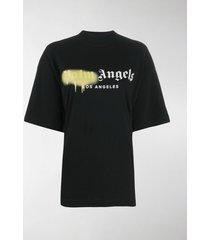 palm angels sprayed logo print t-shirt