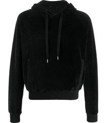haider ackermann velour hoodie - black