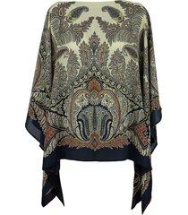 paisley silk crepe blouse