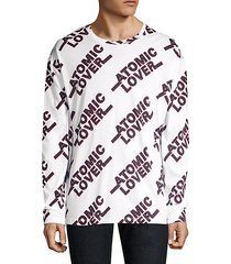 oversized atomic lover graphic pullover
