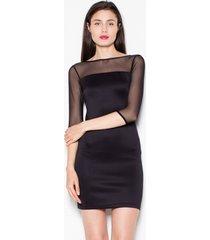 sukienka elegancka z siateczką czarna