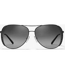 mk occhiali da sole chelsea - nero (nero) - michael kors