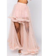 akira queen essentials high low skirt