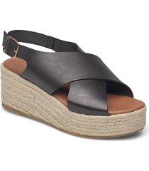 espadrilles 2669 sandalette med klack espadrilles svart billi bi
