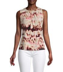 calvin klein women's tie-dye top - sand multi - size s