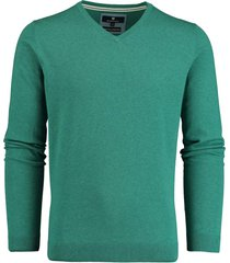 basefield pullover groen v-hals stretch 219015014/503