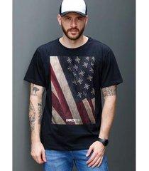 camiseta bandup far cry 5 cult flag black