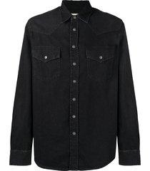 diesel western denim shirt - black