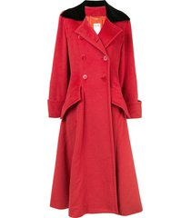 céline pre-owned long flared double-breasted coat