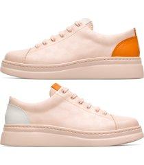 camper twins, sneaker donna, nude/arancione/bianco, misura 42 (eu), k201113-002