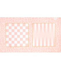 sunnylife games beach towel with game pieces, size one size - pink