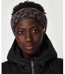 ski leopard headband