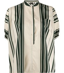 aspesi striped tunic top - neutrals