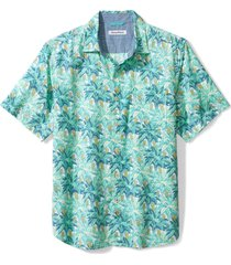 men's tommy bahama plantain jungle short sleeve button-up shirt, size x-large - green