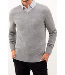 sweater formal liso gris perry ellis