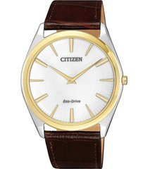 reloj eco-slim plateado citizen