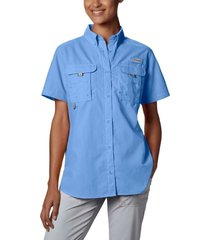 camisa mujer  bahama mc azul cielo columbia