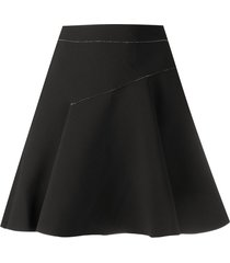diesel high-waisted two-tone skort - black
