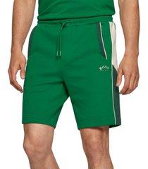 boss men's cotton-blend regular-fit shorts
