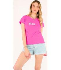 blusa t-shirt believe pop me