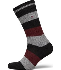 th men sock 1p cable rugby underwear socks regular socks svart tommy hilfiger