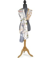 two's company new york map scarf