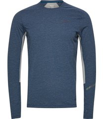 subz ls wool tee m t-shirts long-sleeved blå craft