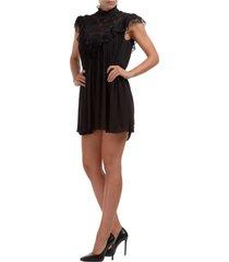 vestito abito donna corto miniabito senza maniche