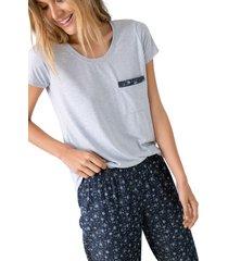 pijama pantalon largo con camisa manga corta ref 1509092l estampado options intimate