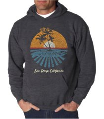 la pop art men's cities in san diego word art hooded sweatshirt