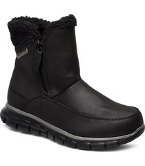 womens synergy shoes boots ankle boots ankle boots flat heel svart skechers
