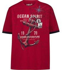 t-shirt men plus rood::marine::wit