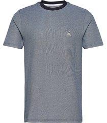 birdseye jacquard t-shirt t-shirts short-sleeved blå original penguin