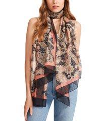 steve madden floral paisley chiffon scarf