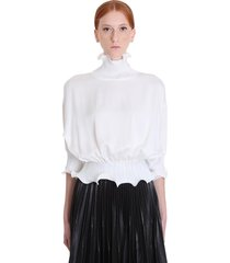 givenchy blouse in white viscose