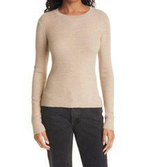 women's la ligne crewneck cashmere sweater, size x-large - beige