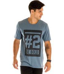 camiseta masculina #2 azul estampa frontal - area verde - multicolorido - masculino - dafiti